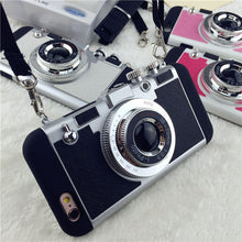 3D Camera Design Phone Case For iPhones Shock Proof Armor With Lanyard