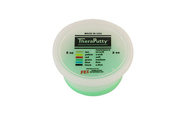 CanDo® Scented Theraputty® Exercise Material - 2 oz - Apple - Green - Medium