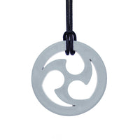 ARK'S NINJA STAR CHEWABLE JEWELRY Light Grey