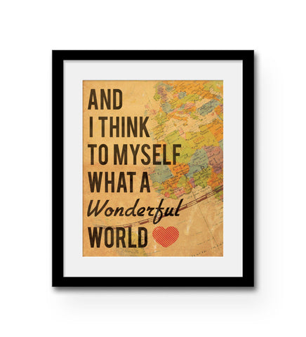 """Wonderful World"" Print"