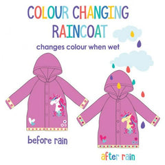Colour Change Raincoat - Unicorn 2 - 4yrs