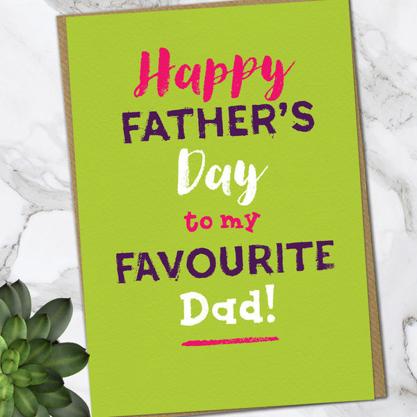 Favourite Dad (Pack Of 6)