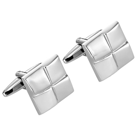Urban Jewelry Mens Stainless Steel Windy Abstract Design Cufflinks