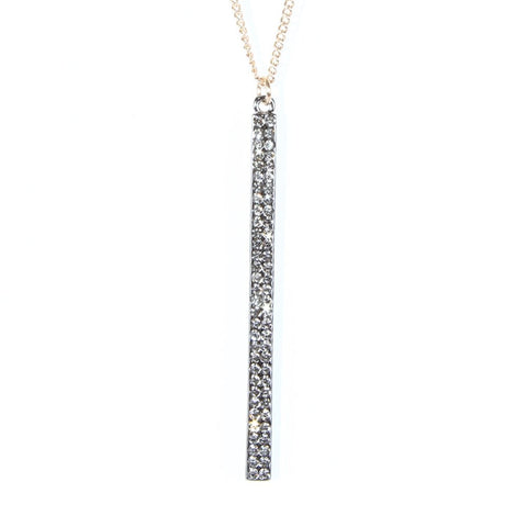 "Beautiful Womens Cubic Zirconia Stainless Steel CZ Necklace Pendant Chain 33"" - 41"" (Gold)"