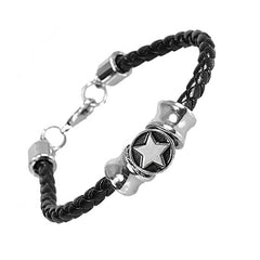 Urban Jewelry Shooting Stars Unisex Leather Bracelet for Men and Women