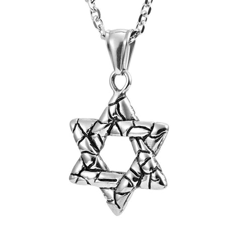"Powerful Star of David Shield Pendant Necklace 21"" Chain (with Branded Gift Box)"