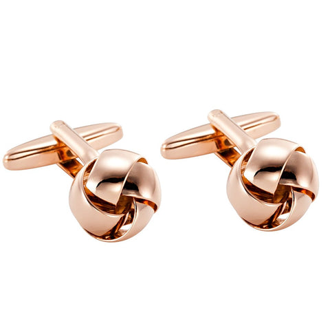 Powerful 316L Stainless Steel Knot Mens Cufflinks in Bronze Color