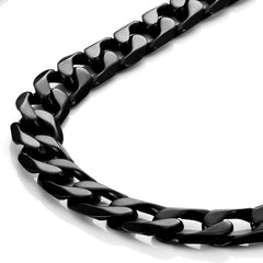 Urban Jewelry Powerful Mens Necklace Black 316L Stainless Steel Chain 18, 21, 23, 26 Inches (6mm)