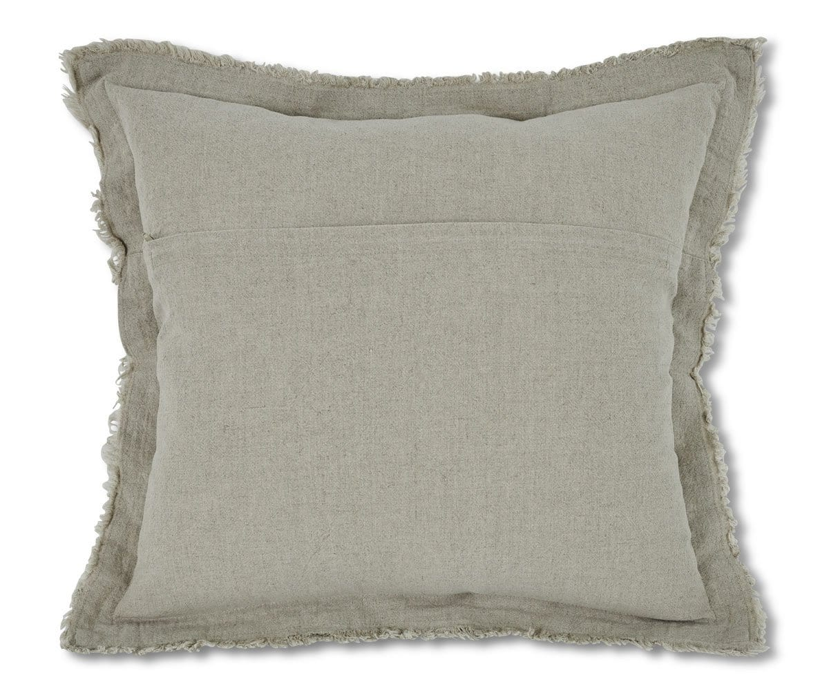 Makron Linen Fringe Pillow Cover - Linen