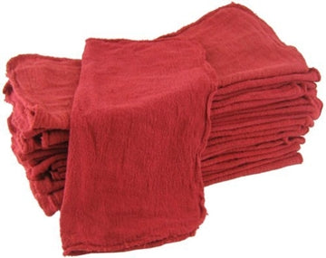 Red Shop Towels - 200 Pieces