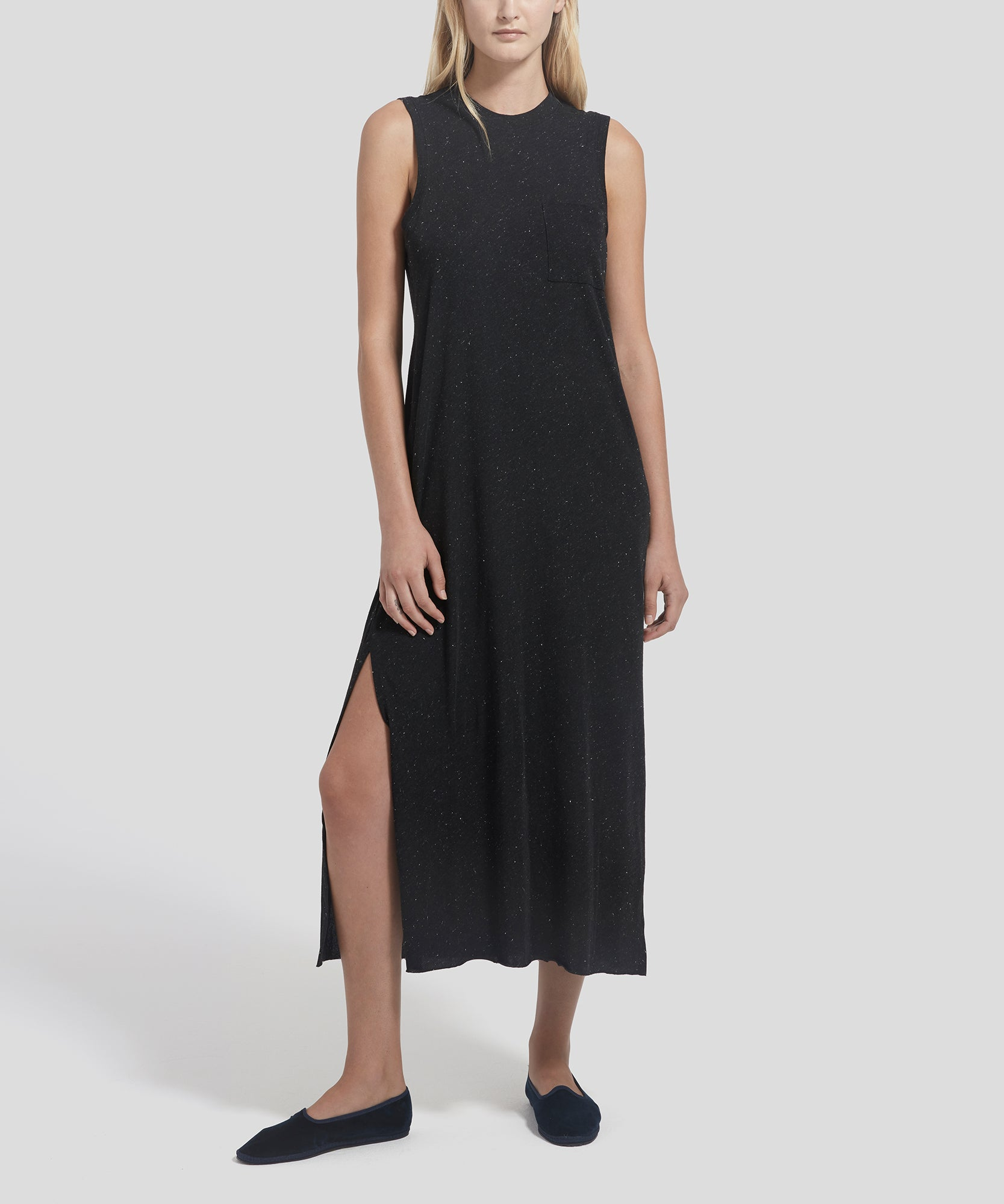 ATM Donegal Sleeveless Maxi Dress