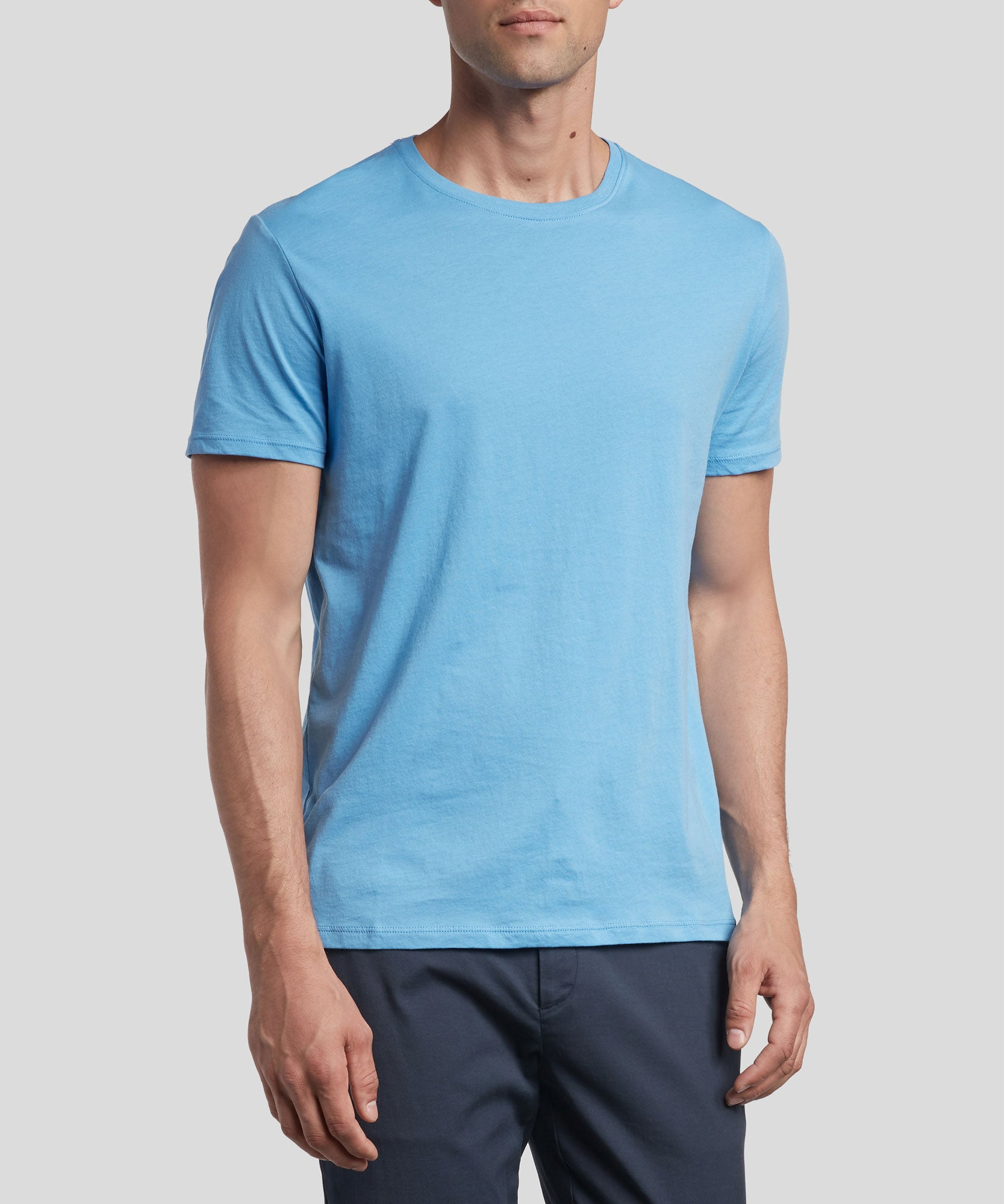 Sky Classic Jersey Crew Neck Tee - Men's Cotton Short Sleeve T-shirt by ATM Anthony Thomas Melillo