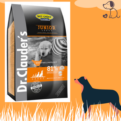 Image of Croquettes Dr. Clauder's super premium pour chien junior