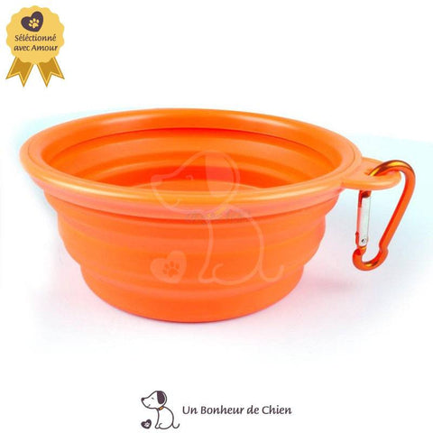 gamelle eau chien portable orange