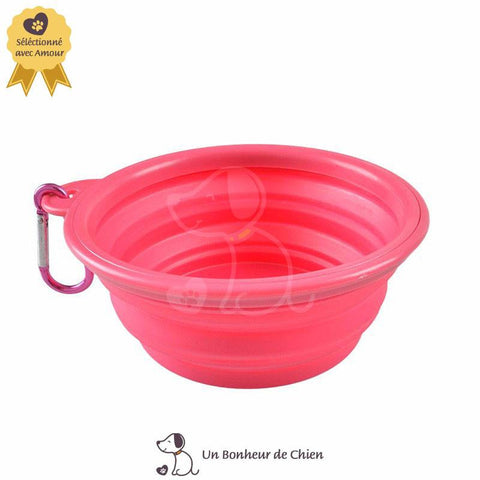 Image of gamelle eau chien portable rose