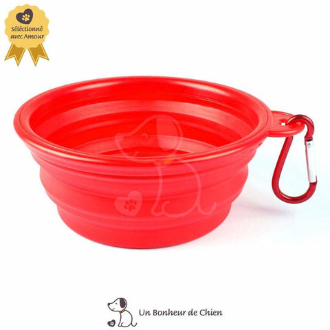 Image of gamelle eau chien portable rouge