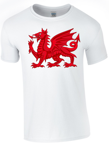 St David's Day Dragon T-Shirt Printed DTG (Direct to Garment) for a Permanent Finish.