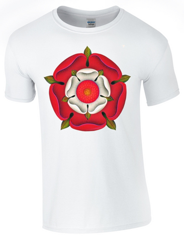 St George's Day English Rose T-Shirt Printed DTG (Direct to Garment) for a Permanent Finish.