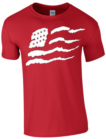 Stars & Stripes T-Shirt Printed DTG (Direct to Garment) for a Permanent Finish.