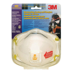Pack of 2 3M dust mask respirator.