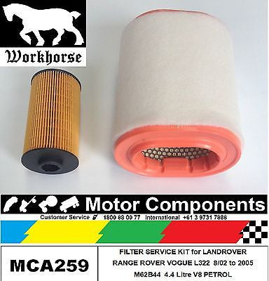 FILTER KIT for LANDROVER RANGE ROVER L322 4.4 M62B44 4.4L V8 PETROL 8/2002-05