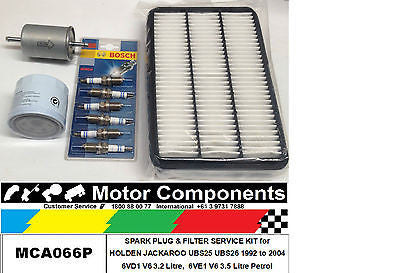 FILTER SERVICE KIT HOLDEN RODEO TFS TFR R9 V6 OIL FUEL AIR & SPARK PLUGS 98 > 03