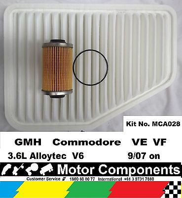 FILTER SERVICE KIT Oil Air HOLDEN Commodore VE VF 3.6 Litre V6 8/2006 on
