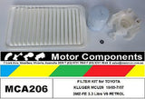 for TOYOTA KLUGER MCU28 3MZ-FE 3.3 Litre V6 PETROL 10/03-7/07 FILTER KIT Air Oil Fue