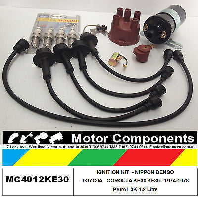 IGNITION KIT COMPLETE for TOYOTA COROLLA KE30 KE36 3K motor 1.2 Litre