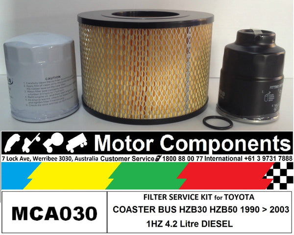 FILTER KIT Air Oil Fuel for TOYOTA COASTER HZB30 HZB50 1HZ 4.2L DIESEL 1990>2003