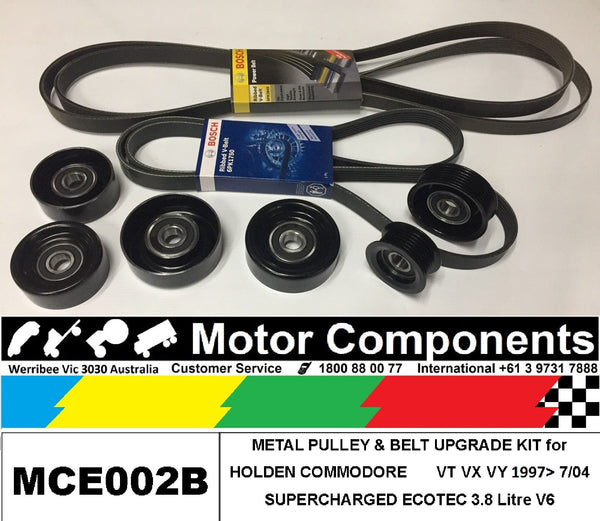 METAL PULLEY UPGRADE KIT for HOLDEN COMMODORE  VT VX VY 3.8L V6 SUPERCHARGED