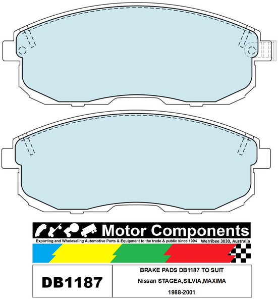 BRAKE PADS DB1187 TO SUIT Nissan STAGEA,SILVIA,MAXIMA 1988-2001