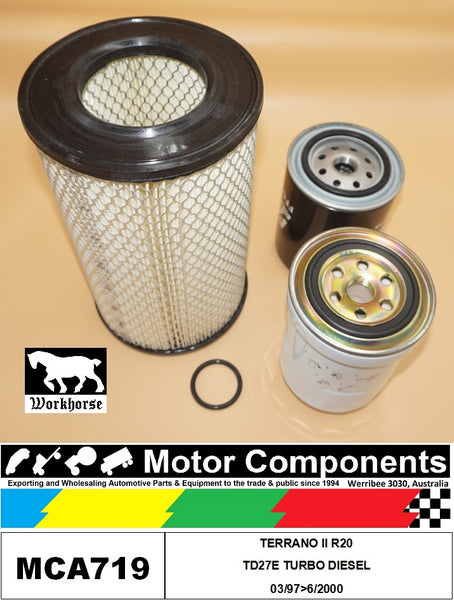FILTER SERVICE KIT for NISSAN  TERRANO II R20 TD27E TURBO DIESEL 03/97>06/2000