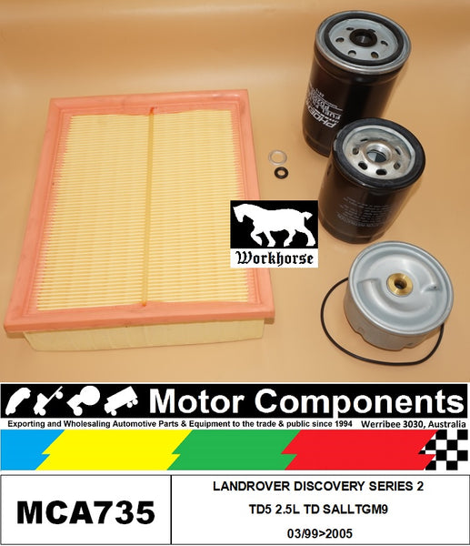 FILTER KIT for LANDROVER DISCOVERY SERIES 2 TD5 2.5L TD SALLTGM9 3/99>2005