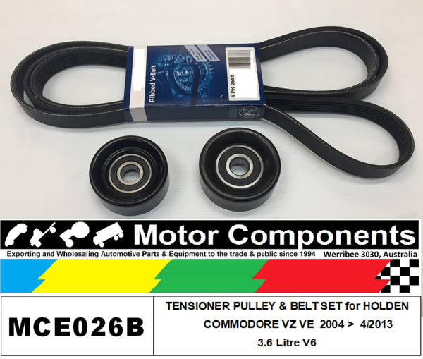 HOLDEN COMMODORE VZ VE METAL PULLEY UPGRADE KIT & BELTS for 3.6 Litre V6 04>13