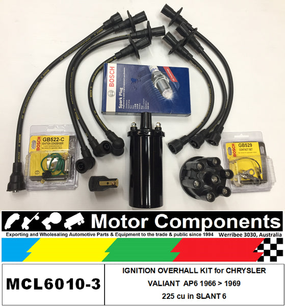 IGNITION KIT for CHRYSLER  VALIANT, SLANT 6 AP6 225 cu in	1965 > 66
