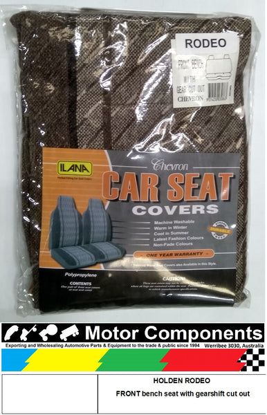SEAT COVER for HOLDEN RODEO FRONT bench seat with gearshift cut out