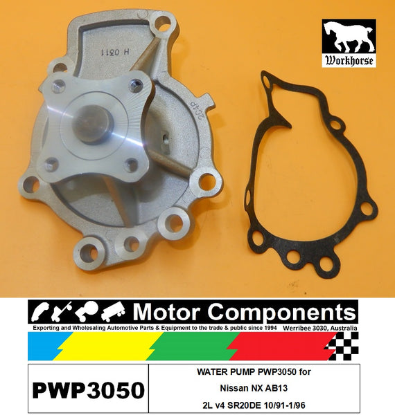 WATER PUMP PWP3050 for Nissan NX AB13 2L v4 SR20DE 10/91-1/96