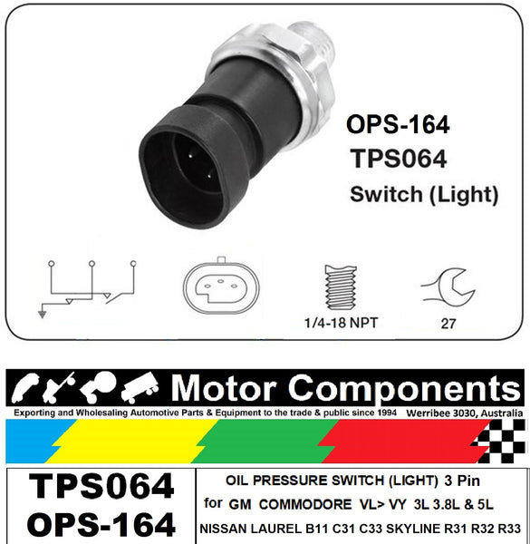 OIL PRESSURE SWITCH for HOLDEN COMMODORE VL VN VP VQ VR VS VT VX VY