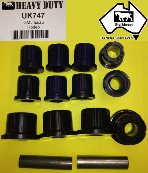 SPRING SHACKLE BUSH KIT REAR for HOLDEN ISUZU RODEO UP TO 3/2003