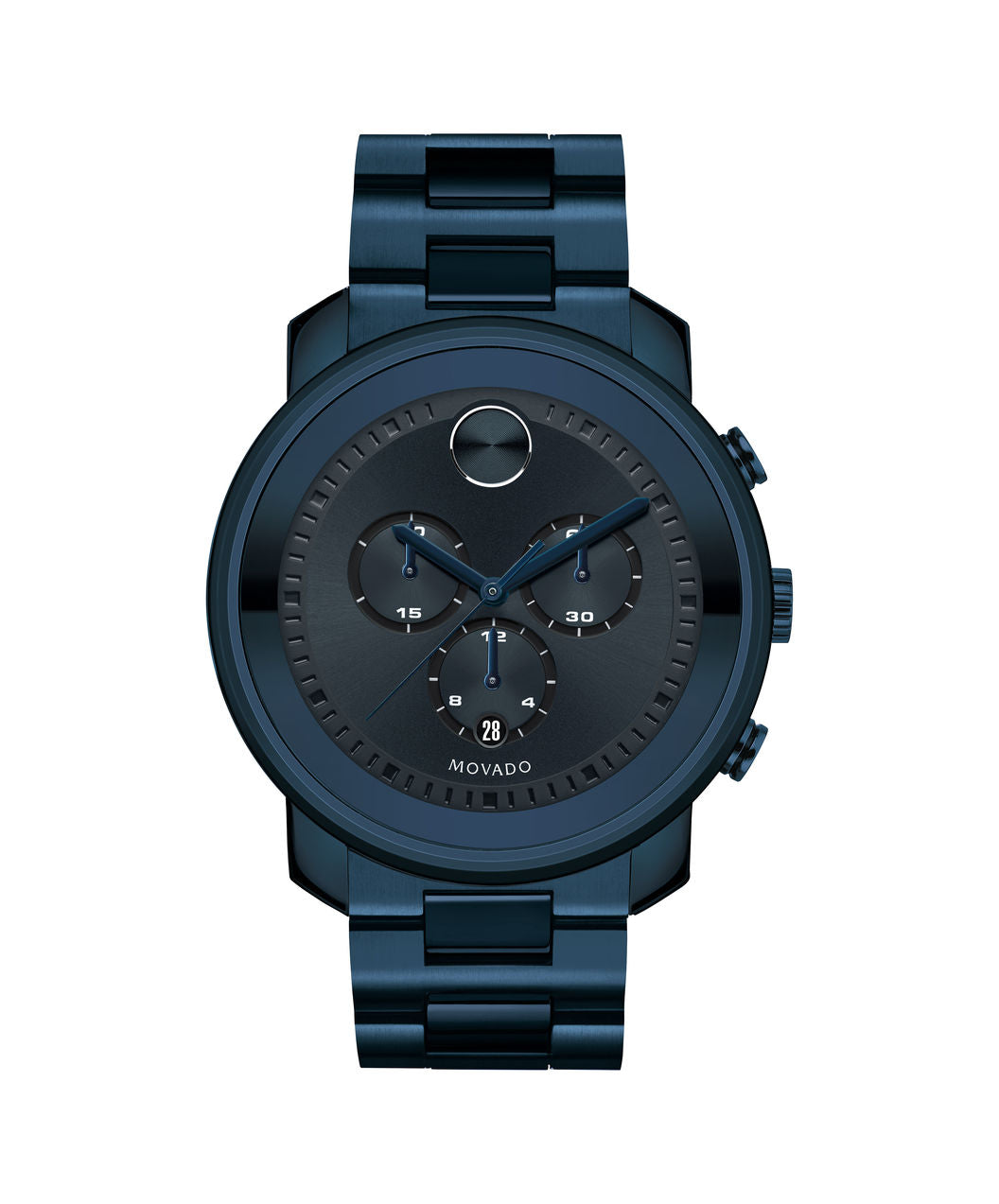Movado Bold Stainless Steel Blue Ion  3600279 44mm