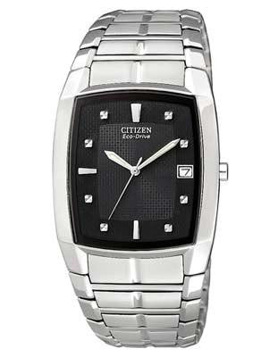 Citizen Eco Drive Stainless Steel Black dial BM6550-58E