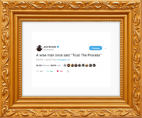 "Joel Embiid - ""Trust The Process""-Framed Tweets"