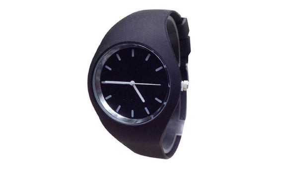 New Fashion Sports Outdoor Silicone Black Candy-Color Watches