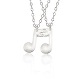 New Stitching Best Friends Music Note Pendant Necklace