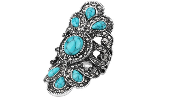 Kinel Luxury Antique Ring For Women