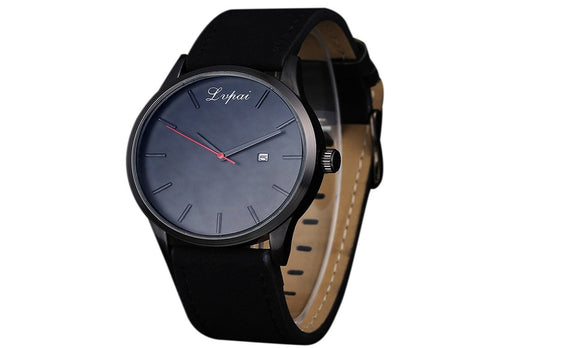 Luxury Sport Quartz Watch with Leather Strap for Men