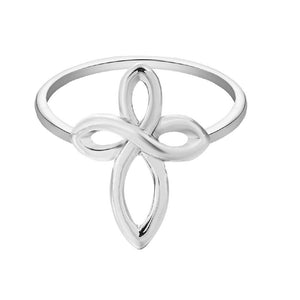 New Fashion Silver Infinity Cross Ring For Women