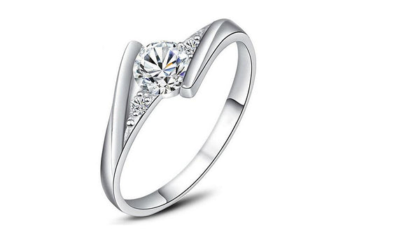 Cubic Zirconia Engagement Wedding Ring For Women