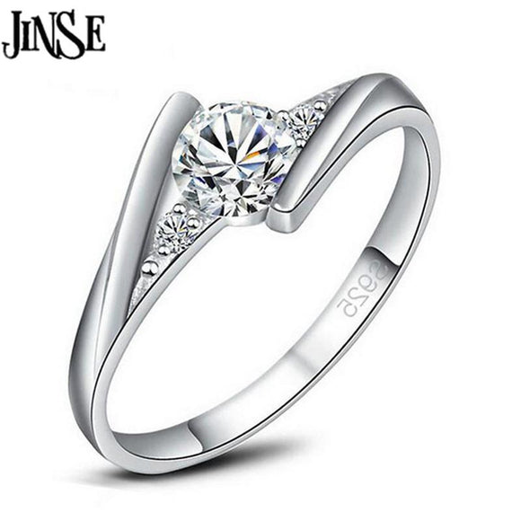 White Gold color Cubic Zirconia Engagement Ring